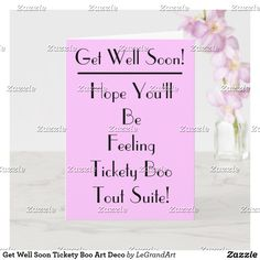 Typography Fonts, Lettering, Lilac Background, Hope You Are Well, Card Tattoo, Get Well Soon, Plant Design, Custom Greeting Cards, Zazzle Invitations