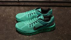 Mens running shoes Nike Air Max 2013 Emerald Green Black 554886 301