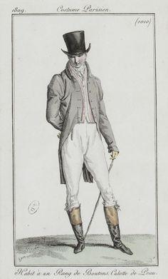Journal des dames et des modes / Costume Parisien: 15 Octobre, 1809 (1b)