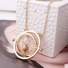 Hermione Granger necklace.  Time Turner. Harry Potter Jewelry.