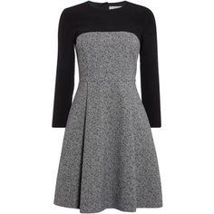 Marella Bunny textured constrast shift dress
