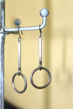 Sterling Silver Earrings Dangle Silver by LittleYellowRoomShop
