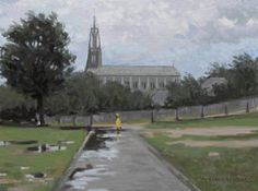 Computer Oil Painting...Emanuel Tancau: landscape with rain