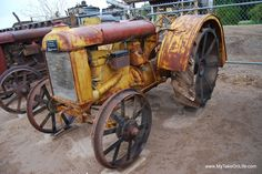 Vintage Tractor...  Love the color