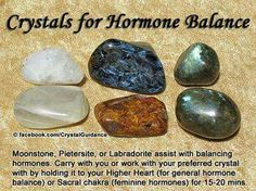 Hormone Balance — Moonstone, Pietersite, or Labradorite assist with balancing hormones. Carry with you or work with your preferred crystal by holding it to you Higher Heart (for general hormone balance) or Sacral chakra (feminine hormones) for minutes. Crystal Healing Stones, Crystal Magic, Crystal Grid, Stones And Crystals, Gem Stones, Quartz Crystal, Healing Rocks, Story Stones, Minerals And Gemstones