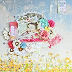 #papercrafting #scrapbook #layout Erin Blegen: My Scrap Cabin: NEW from Webster's Pages: Dream in Color!