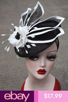 240ef90d145 Womens Ladies Dress Fascinator Wedding Kentucky Derby Sinamay Hat T213