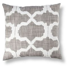 Threshold™ Geometric Applique Pillow - Gray