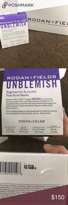 Rodan and Fields Unblemish Regimen Rodan and Fields unblemish Regimen - new all sealed. Exp 4/2018 Rodan and Fields Makeup