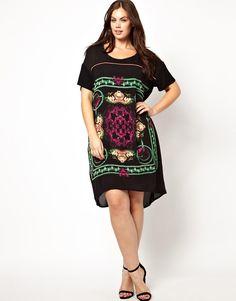 Junarose - Scarf Print Dress