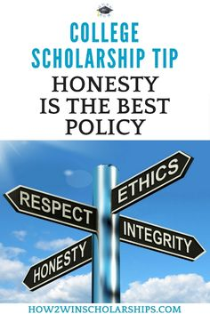 College Scholarship Tip: Honesty is the best policy when filling out a scholarship application and this is exactly why. #college #scholarships #scholarshiptips #payingforcollege #collegecash #scholarshipmom #education #university #highered #scholarship #highschool #moneyforschool #collegebound #debtfree #financialaidforcollege #teens Financial Aid For College, College Planning, Education College, College Life, College Essay, Nursing School Scholarships, Nursing Schools, College Organization, Education System