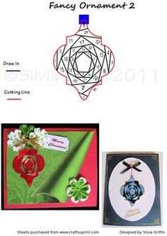 Fancy Ornament 2 on Craftsuprint designed by Silvia Griffin - Great looking Christmas bauble and it will look different every time you use other papers. Thank you for considering my creations  - Now available for download!
