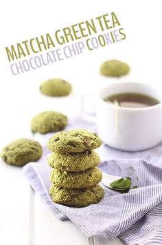 Whether you're celebrating St. Patrick's Day or any day, these Matcha Green Tea Chocolate Chip Cookies will answer your green cookie dreams! Plus they're gluten-free!