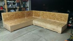 diy sectional sofa - Google Search **My in-laws need this for their sun porch.