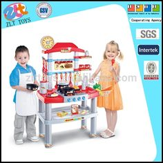 Plastic Toys Kitchen Play Set Toy For Kids With Sound And Light
