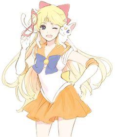 Sailor Venus and Artemis