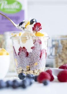 Check out this delicious recipe for Raspberry Chia Seed Pudding Parfaits — and many more on the Pacific Foods site. Superfood, Parfait Recipes, Granola Cereal, Blueberry Breakfast, Recipe Sites, Cereal Recipes, Dessert, Chia Pudding, Healthy Breakfast Recipes