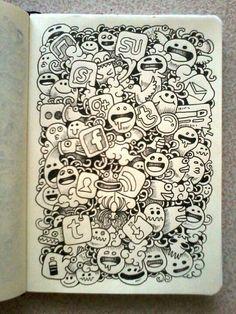 DAILY DOODLES: Social, social, social by kerbyrosanes.deviantart.com on @deviantART