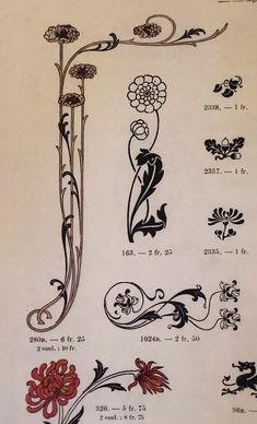 Art nouveau ornament tattoos ideas for 2019 Fleurs Art Nouveau, Motifs Art Nouveau, Art Nouveau Mucha, Design Art Nouveau, Motif Art Deco, Art Nouveau Flowers, Art Nouveau Pattern, Art Nouveau Tattoo, Art Inspo