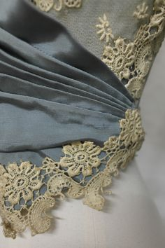 Detail of an 1890s bodice, part of an outfit that was worn as a wedding dress. Many women simply wore a good dress to get married in, and then wore it for 'best' afterwards. Collection: Royal Pump Room/Harrogate Museums.