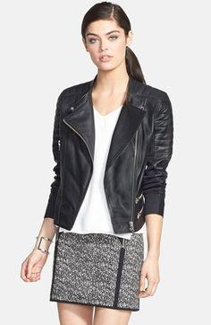 leather moto jacket / trouve