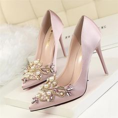 Cheap Women's Pumps, Buy Directly from China Suppliers:BIGTREE Women Pumps Rhinestone High Heels Shoes Women Pointed Toe Crystal Pearl Party Shoes Sexy Wedding Shoes Sexy Wedding Shoes, Converse Wedding Shoes, Wedge Wedding Shoes, Bridal Wedding Shoes, Bride Shoes, Ivory Wedding, Boho Wedding, 2017 Wedding, Casual Wedding