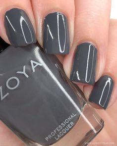 Looking for the perfect grey nail polish? Check out my top 3 for the season! Grey Nail Polish, Gray Nails, Nail Polish Colors, Nail Art Sticker, Pedicure Colors, Nail Time, Feet Nails, Fancy Nails, Accent Nails