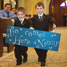 Cutest ring bearers ever!