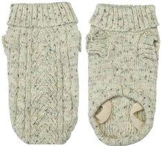 Casual Canine Dog Sweater - Classic Irish Knit Dog Sweater - Too Cool - Large Dog Sweater Pattern, Crochet Dog Sweater, Knitted Coat, Dog Pattern, Crochet Baby, Knit Crochet, Pet Coats, Pet Sweaters, Dog Jumpers