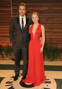 Kristen Bell and  Dax Shepard at the Vanity Fair Oscars party