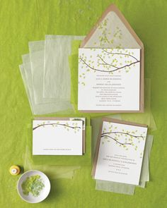 """Five Ways to Customize Your Wedding Invitations"" from Martha Stewart Weddings. I can take some practical ideas from this. No Dutch tulips or the truffles of a tiny village in France, thank you."