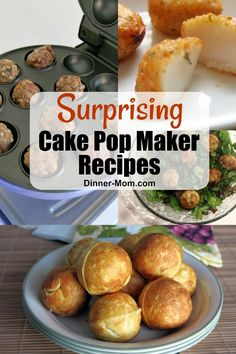 Three Surprising Cake Pop Maker Recipes We tested Cake Pop Maker recipes for scallops, meatballs, crab cakes, pizza bites and donut holes. You'll be surprised at what this kitchen gadget can do! Babycakes Recipes, Babycakes Cake Pop Maker, Donut Recipes, Cooking Recipes, Pizza Recipes, Appetizer Recipes, Appetizers, Cake Pops, Dibujo