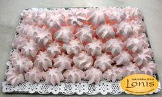 Μπεζέδες φράουλα - Ζαχαροπλαστείο Lonis - www.lonis.gr Grains, Rice, Food, Chocolate Factory, Essen, Meals, Seeds, Yemek, Laughter