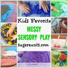 Kids Favorite Messy Sensory Play Activities #sensory #messyplay