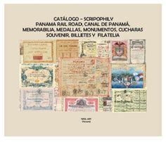 Catalogo de scripophily, Panama Rail Road, Canal de Panamá, memorabilia, medallas. monumentos, cucharas souvenir, billtes y filatelia - Disponible en Weil Art