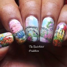 Instagram media by riddhisn - Nature for Day 14 of #nailartjan I love the colourful spring and the season so beautiful❤️ And yes I forgot the count of the nailpolishes/shades used