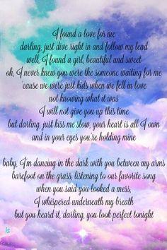The lyrics to perfect by ed sheeran really are perfect - Dive ed sheeran testo ...