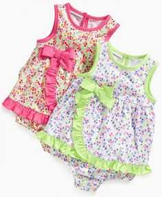 First Impressions Baby Bodysuit, Baby Girls Faux Wrap Skirt Sunsuit - Kids Baby Girl months) - Macy's Newborn Girl Outfits, Toddler Girl Outfits, Baby Girl Dresses, Baby Dress, Kids Outfits, Baby Girl Fashion, Kids Fashion, Carters Baby Girl, Baby Girls