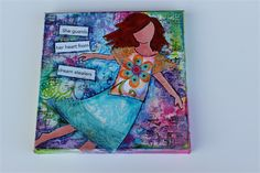 She Art: She Guards Her Heart From Dream Stealers - Original Collage