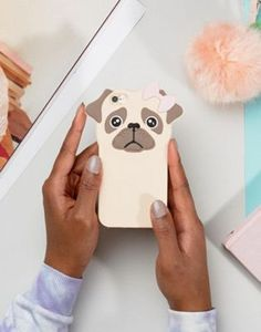 New Look | New Look Rubber Pug Iphone 6 Phone Case