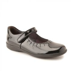 Mary Jane, Black Patent Girls Riptape School Shoes - Buy Online at Start-rite Shoes
