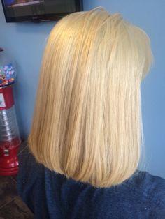 Haircolor blonde