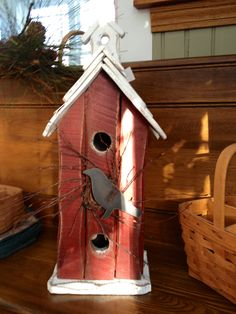 Old Crow Bird House, available this spring at Ravenswood Gifts.