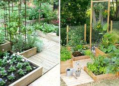 Odlingslådor inspiration - 10 sätt att placera pallkragar i trädgården - Inredningsvis Garden Gadgets, My Secret Garden, Playground, Facade, Backyard, Plants, Garden Ideas, Outdoors, Handmade