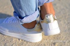 Adidas customized Stan Smith Croco Gold combi Pinterest: sosogranola ♡☪☼
