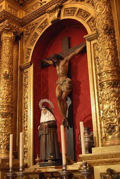 La salvezza di Cristo e la madre Angelita della  Basílica Menor de Santa María de la Esperanza Macarena, popularmente conocida como Basílica de la Macarena a Siviglia.