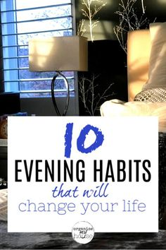 I love these easy and quick evening habits because they really work. It makes evenings much more relaxing, and my mornings go smoother the next day - bonus! Evening Routine, Night Routine, Habits Of Successful People, Successful Women, Inspirational Articles, Things To Do When Bored, Morning Habits, How To Get Sleep, Good Habits