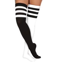 Athletic Stripe Socks - Style #6605 at Discount Dance Supply