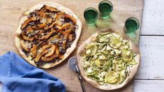 Who said pizza was unhealthy? These veggie pizzas pack winning flavour combinations plus your five-a-day. Vegan Recipes Videos, Pizza Recipes, Vegetarian Recipes, Healthy Recipes, Veggie Recipes, Enchiladas, Cake Pops, Veggie Pizza, Healthy Pizza
