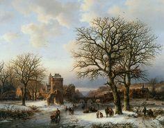 Barend Cornelis Koekkoek - Winterlandschap (1857)